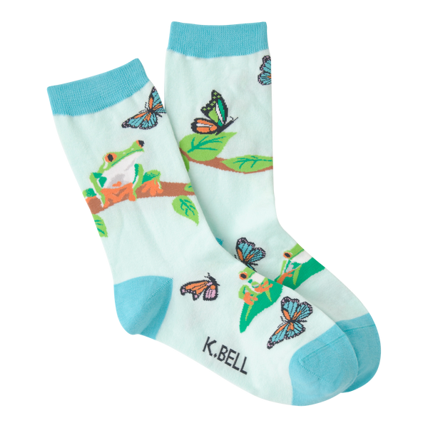 Women's Rainforest Frog Crew Socks