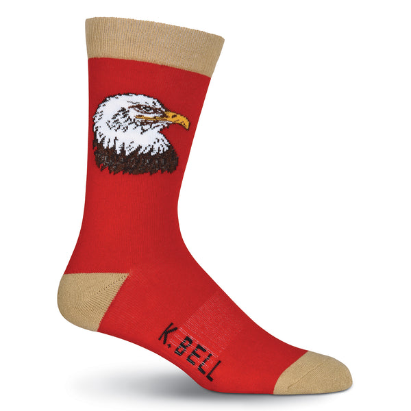 Men's Bald Eagle Crew Socks -  American Made