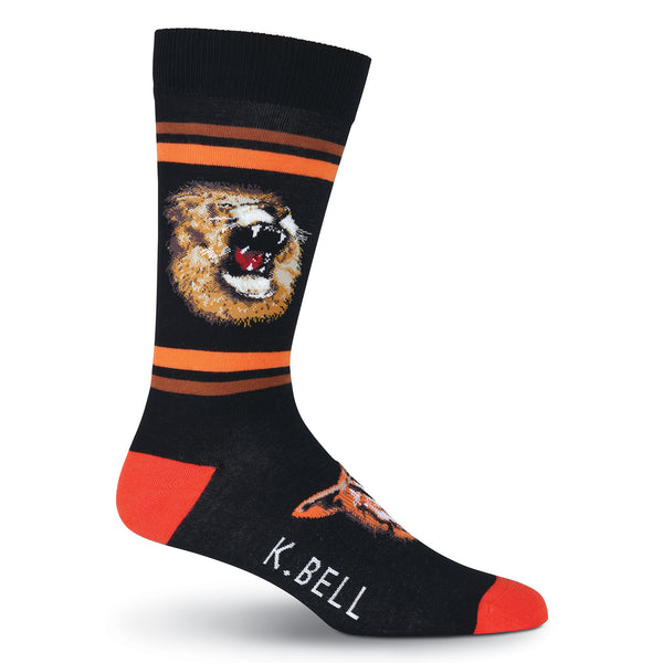 Men's Lions & Tigers Crew Socks