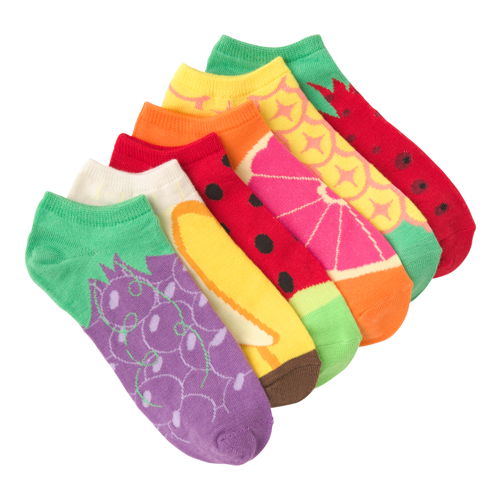 Women's Fruit Ankle Socks Six Pair Pack