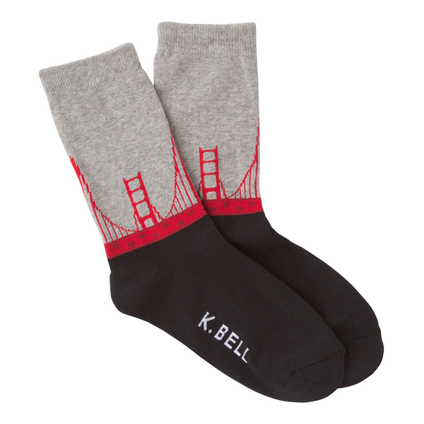 Women's Golden Gate Bridge Crew Socks - American Made
