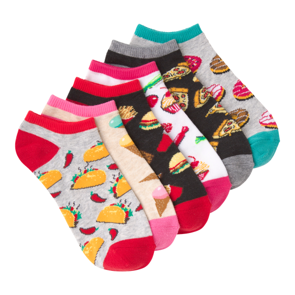 Women's Snack Time Ankle Socks Six Pair Pack