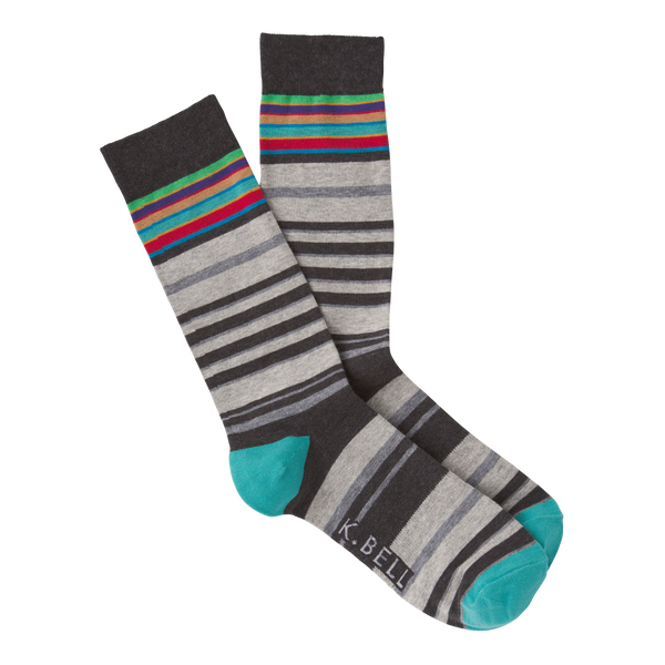 Men's Casual Striped Crew Socks