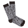 Men's Music Notes Crew Socks