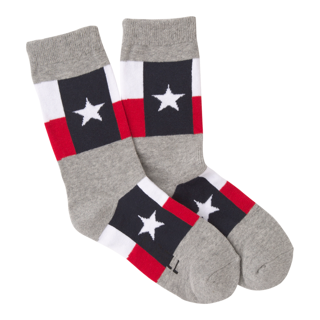 Women's Texas Flag Crew Socks - American Made