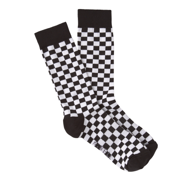 Men's Checkerboard Crew Socks