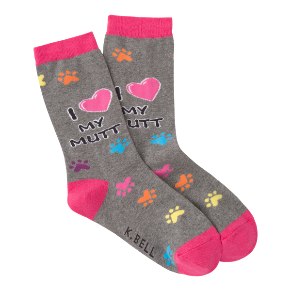 Women's I Heart My Mutt Crew Socks