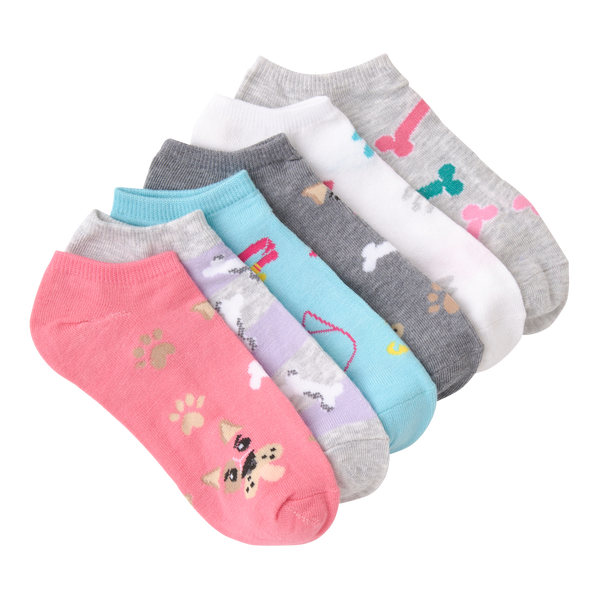 Women's Dogs Ankle Socks Six Pair Pack