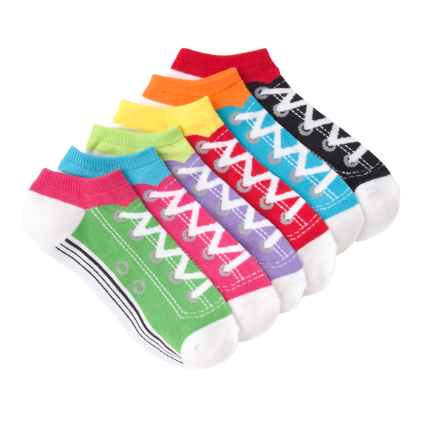 Women's Sneakers Ankle Socks Six Pair Pack