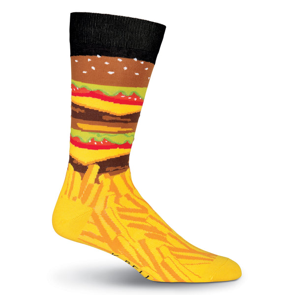Men's Burger and Fries Crew Socks