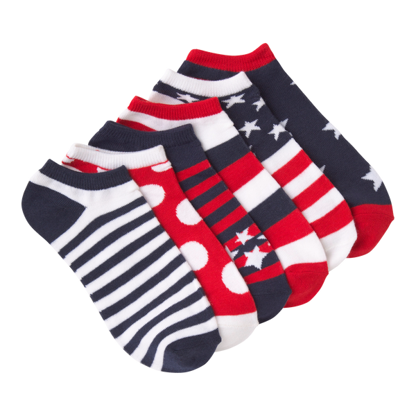 Women's Americana Ankle Socks Six Pair Pack