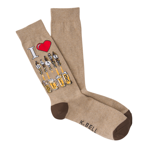 Men's Draft Beer Crew Socks