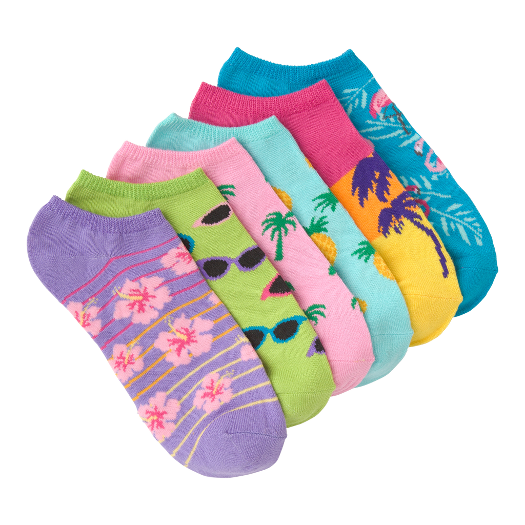 Women's Palm Beach Ankle Socks Six Pair Pack