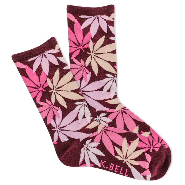 Women's Scattered Cannabis Crew Socks