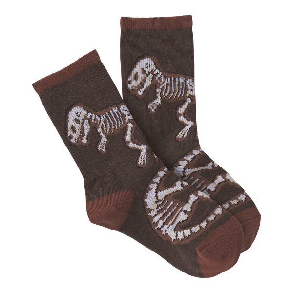 Kid's Dino Bones Crew Socks