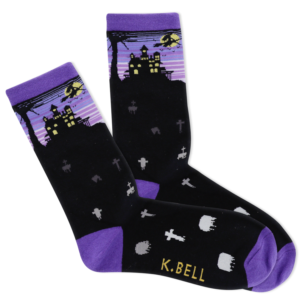 Women's Halloween Night Crew Socks