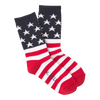Women's Flag Crew Sock - American Made