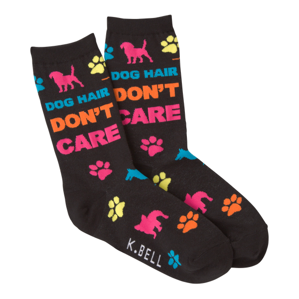Women's Dog Hair Don't Care Crew Socks