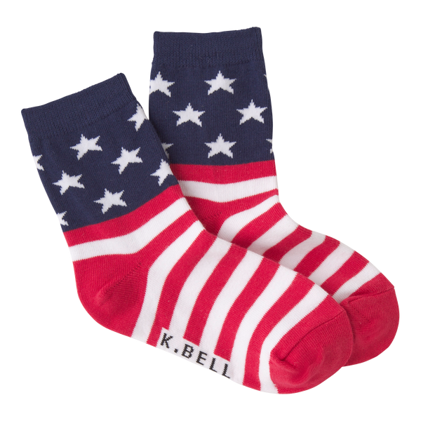 Kid's Stars and Stripes Crew Socks