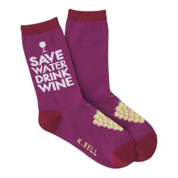 Women's Drink Wine Crew Socks