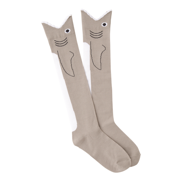 Women's Wide Mouth Shark Knee High Socks