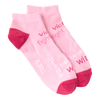 Women's Pink Ribbon Ankle Socks