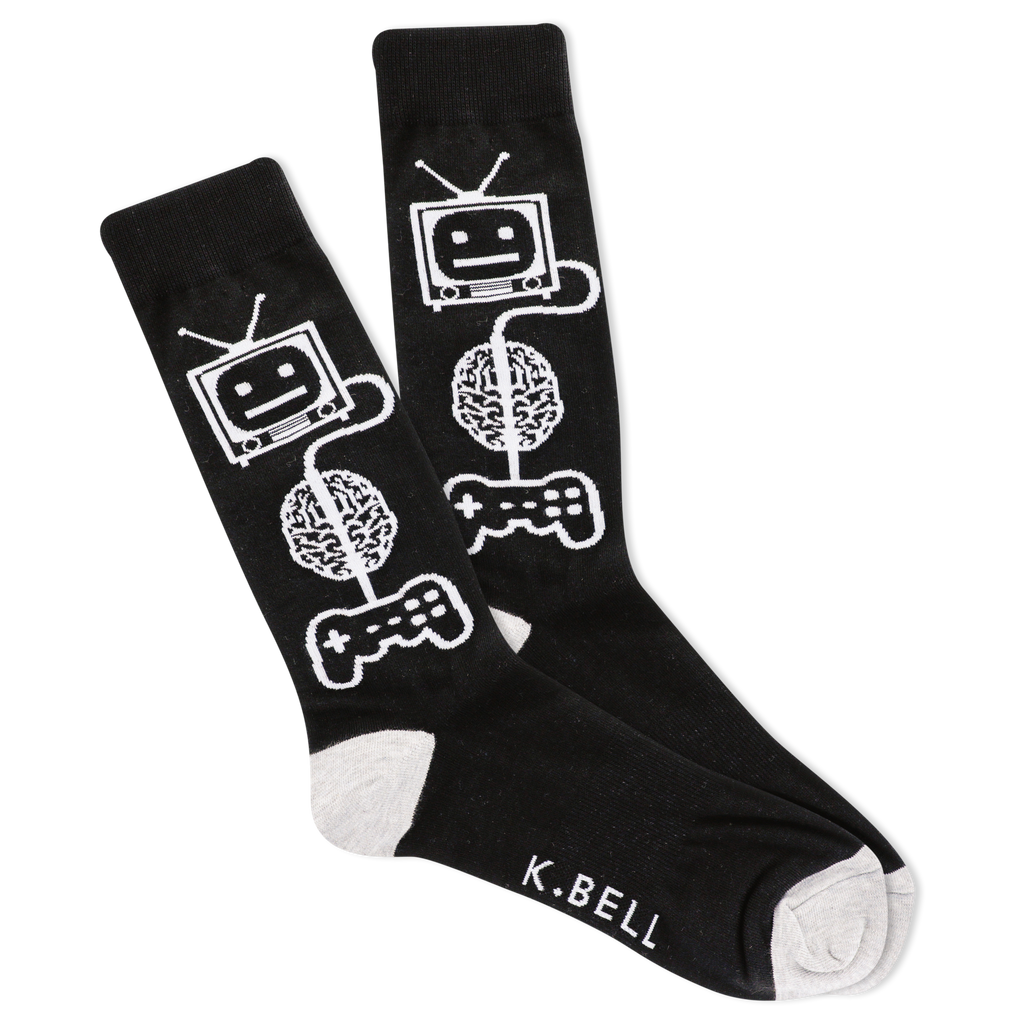 Men's Game Brain Crew Socks