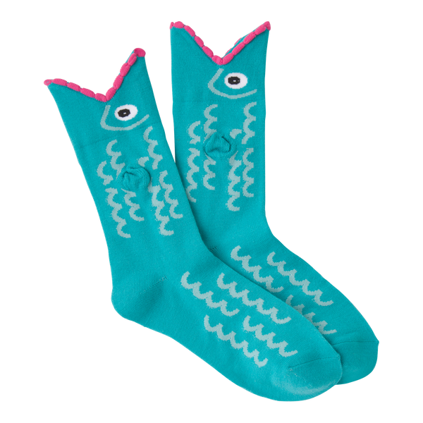Women's Wide Mouth Fish Crew Socks