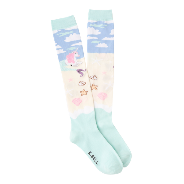 Women's Unicorn Mermaid Knee High Socks