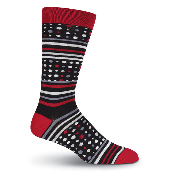 Men's Dots and Stripes Crew Sock
