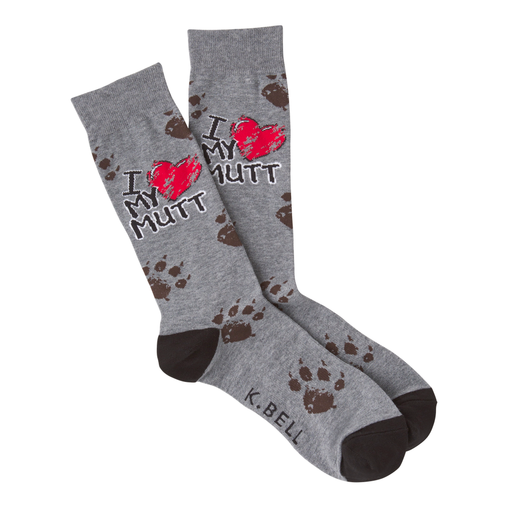 Men's I Heart My Mutt Crew Socks