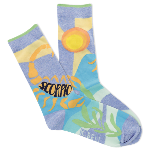 Women's Astrology Scorpio Crew Socks
