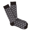 Men's Tri-Geometric Pattern Crew Socks