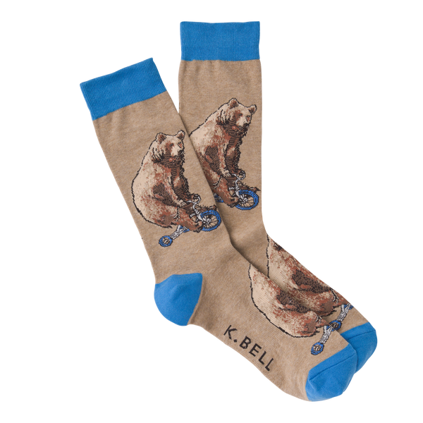Men's Bear on a Roll Crew Socks