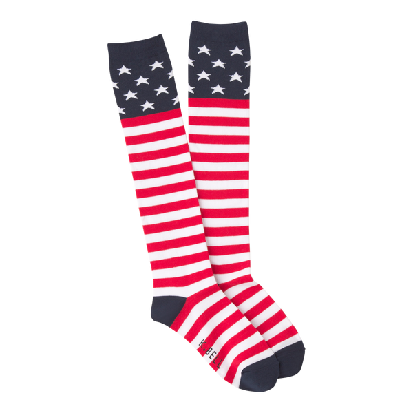 Women's American Flag Knee High Socks