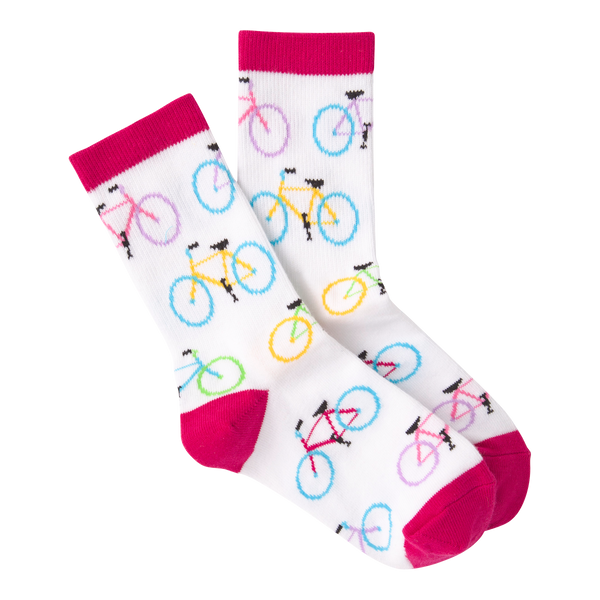 Kid's Colorful Bikes Crew Socks