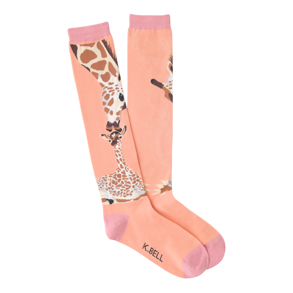 Women's Kissing Giraffe Knee High Socks