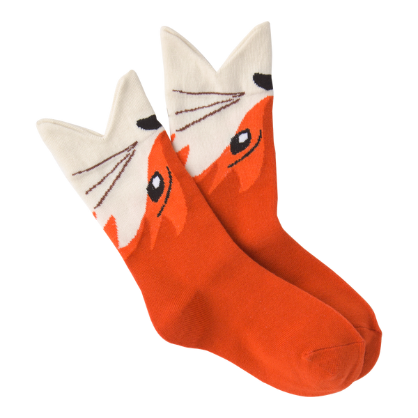 Kid's Wide Mouth Fox Crew Socks