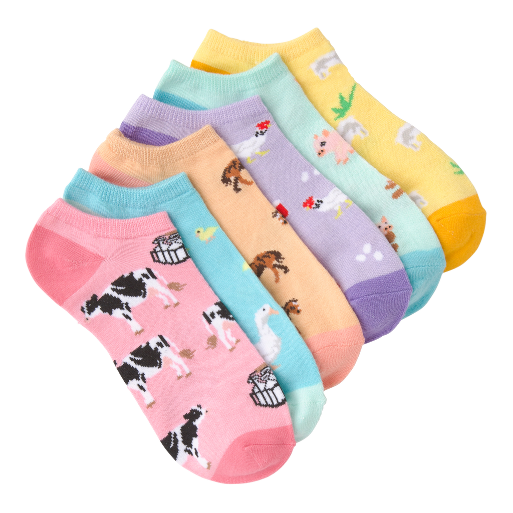 Women's Farm Animals Ankle Socks Six Pair Pack