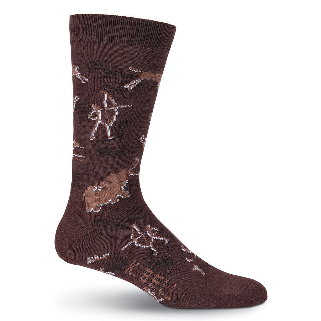 Men's Cave Art Crew Socks - American Made