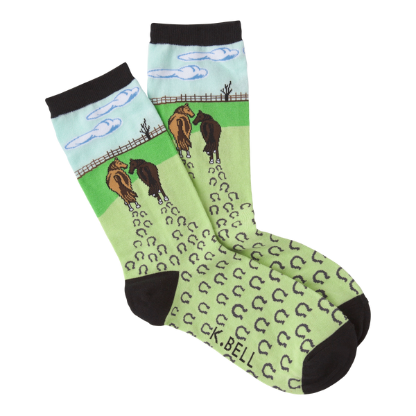 Women's Horses Walking Crew Socks