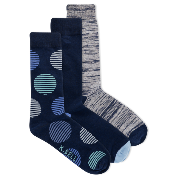 Men's Dot Crew Essentials Crew Socks 3 Pair Pack