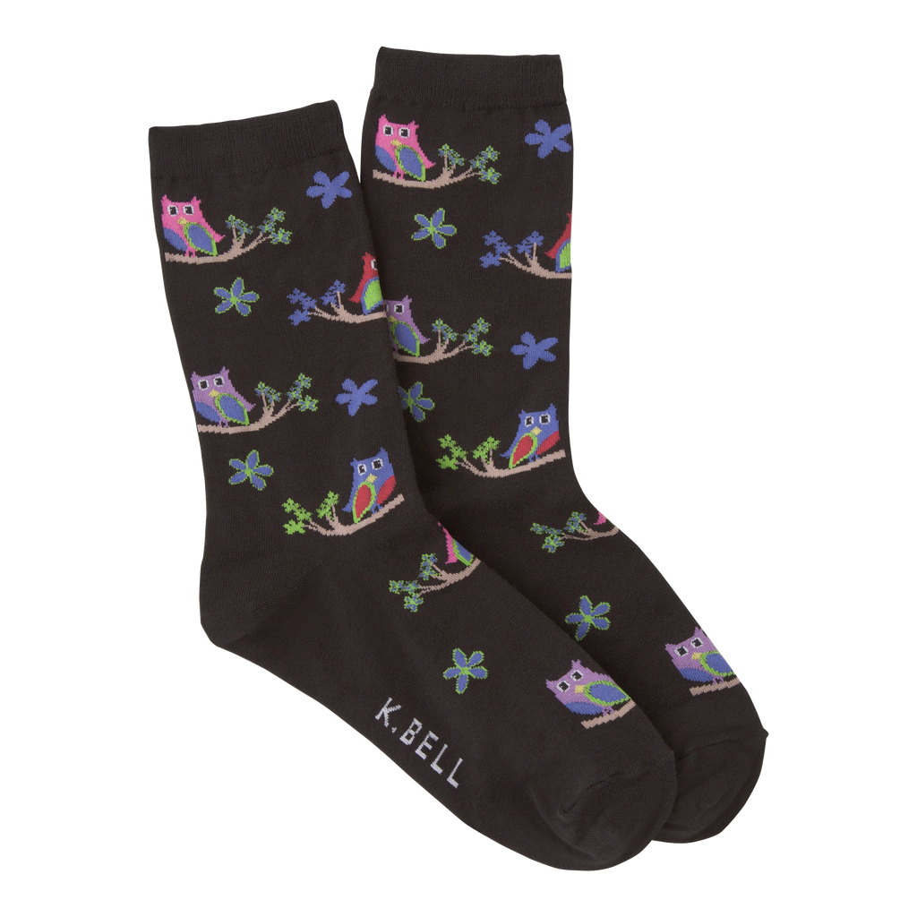 Women's Colorful Owls Crew Socks