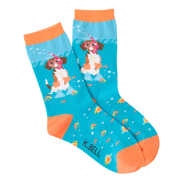 Women's Scuba Dog Crew Socks