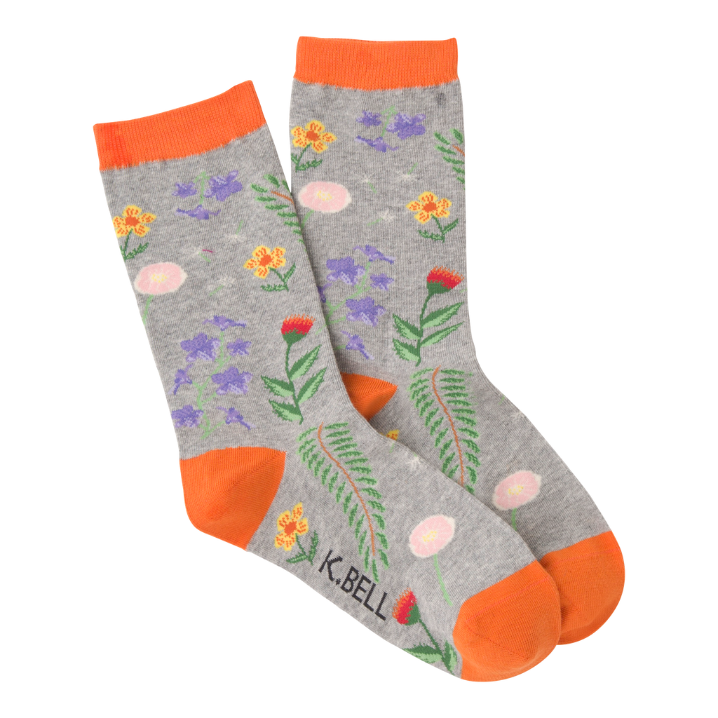 Women's Botanical Florals Crew Socks