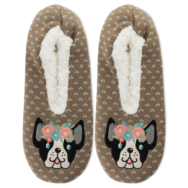 Women's Flower Puppy Slippers