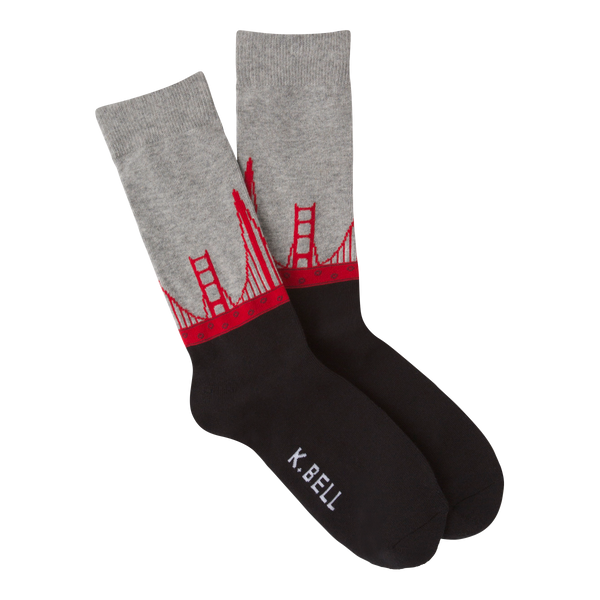 Men's Golden Gate Bridge Crew Socks - American Made