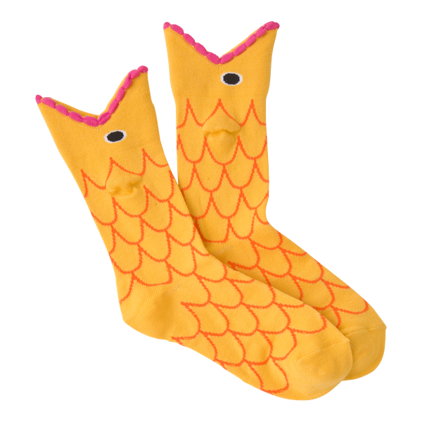 Women's Wide Mouth Goldfish Crew Socks