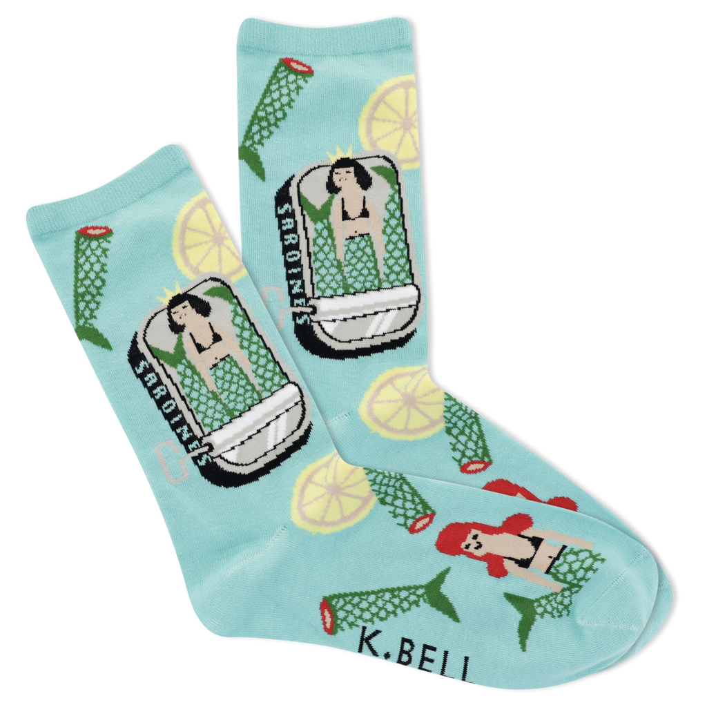 Women's Mermaid Sock Crew Socks