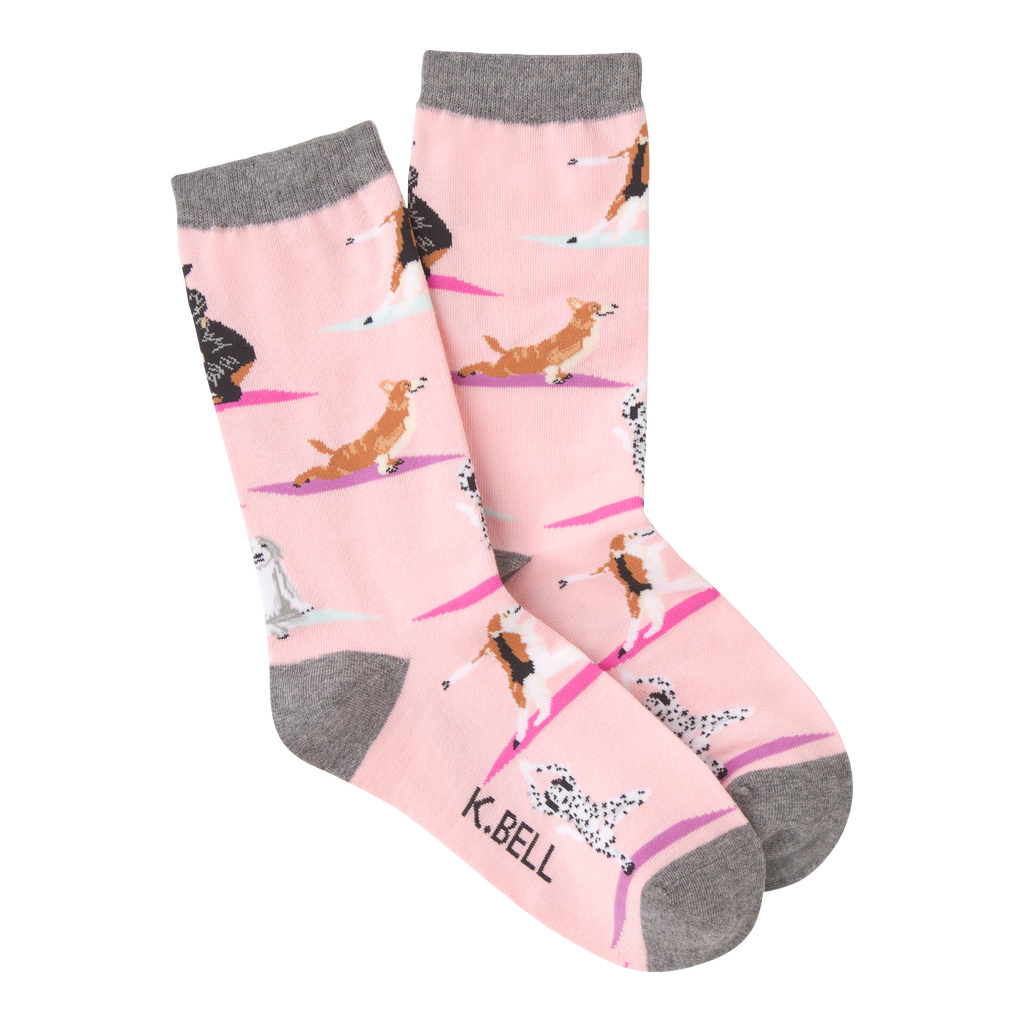 Women's Yoga Dogs Crew Socks